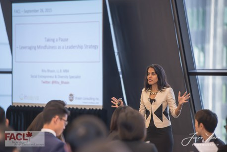 Federation of Asian Canadian Lawyers 9th Annual Conference, September 26th, 2015: Ritu discusses practical mindfulness strategies for lawyers – Toronto, ON