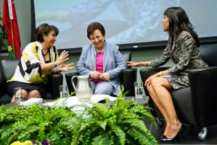 Law Society of Upper Canada (LSUC), June 14, 2012: Ritu Bhasin hosting a discussion with Dr. Shirin Ebadi, Nobel Peace Prize Laureate and recipient of an honorary doctorate from the LSUC – Toronto, ON