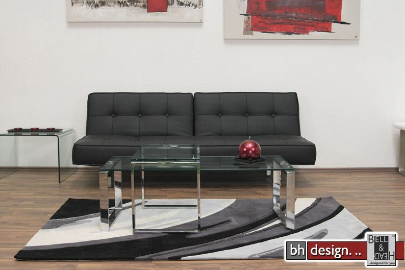 Designer Couch L Form Katrine Couchtisch Glas Chrom Powered By Bell & Head