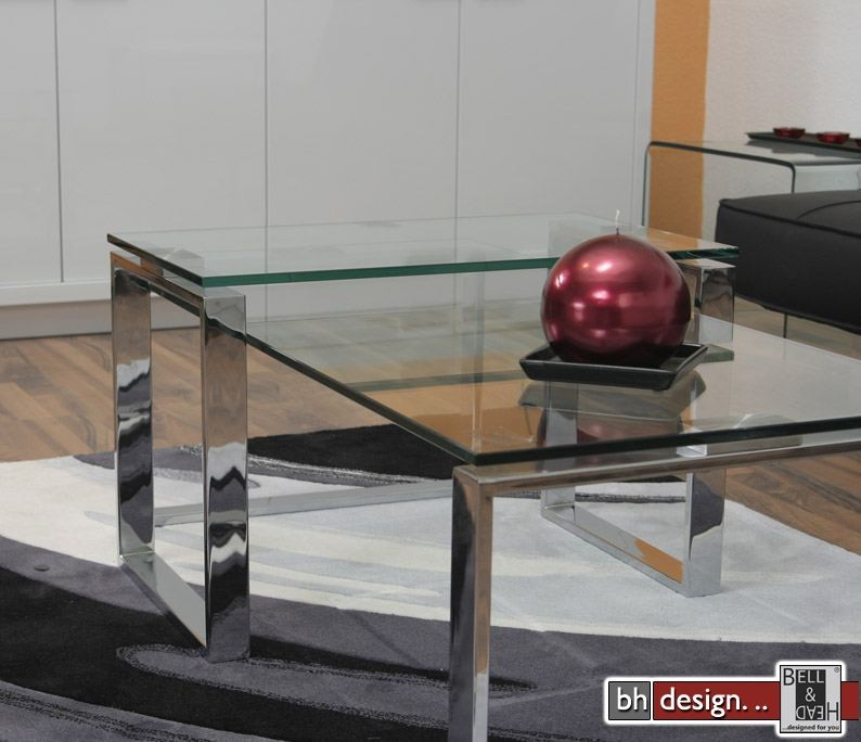 Moebel24 Shop Katrine Couchtisch Glas Chrom Powered By Bell & Head