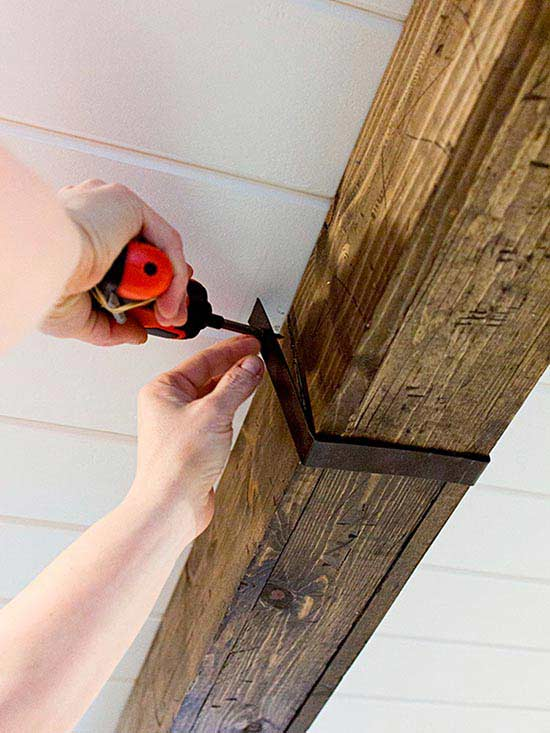 How To Make Rustic Wood Beams Better Homes Gardens