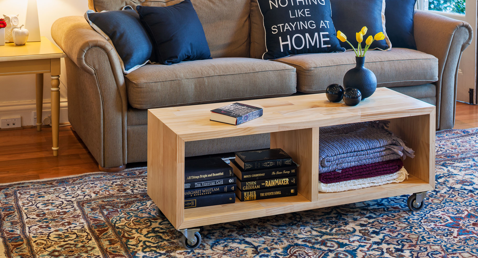 Build Your Own End Table Make Your Own Versatile Mobile Coffee Table Better Homes