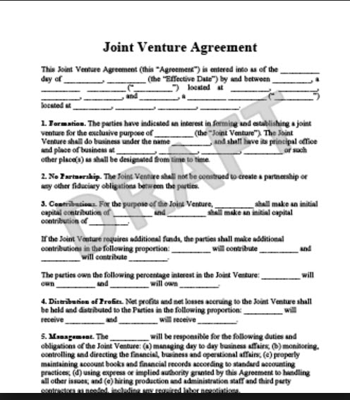 Must Have Aspects of a Joint Venture Agreement For Real Estate BH