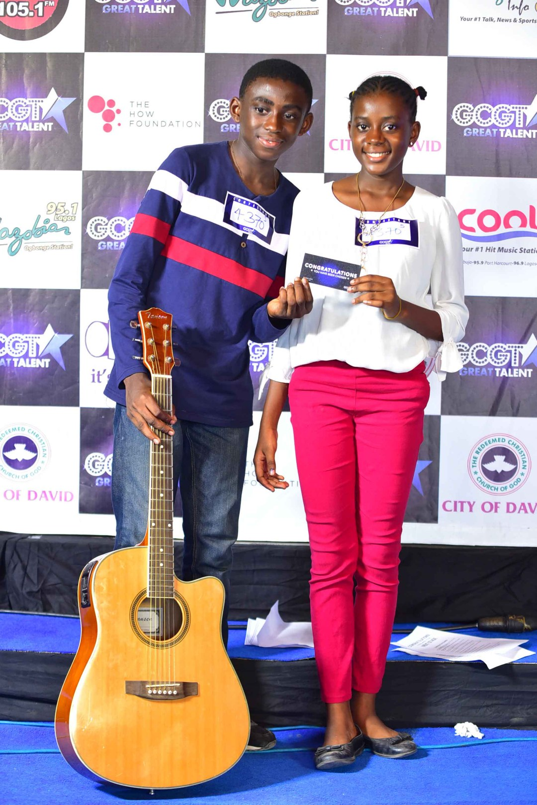 Contestants Dara & Laolu