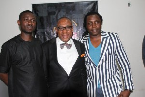 CEO, BlackHouse Media, Ayeni Adekunle, CEO, CMC Connect and Secretary General, APRA, Yomi Badejo Okusanya and CEO, X3M Ideas, Steve Babaeko at the PR is Dead on Tuesday, October 6, 2014 at the BHM Headquarters in Ikeja, Lagos 1