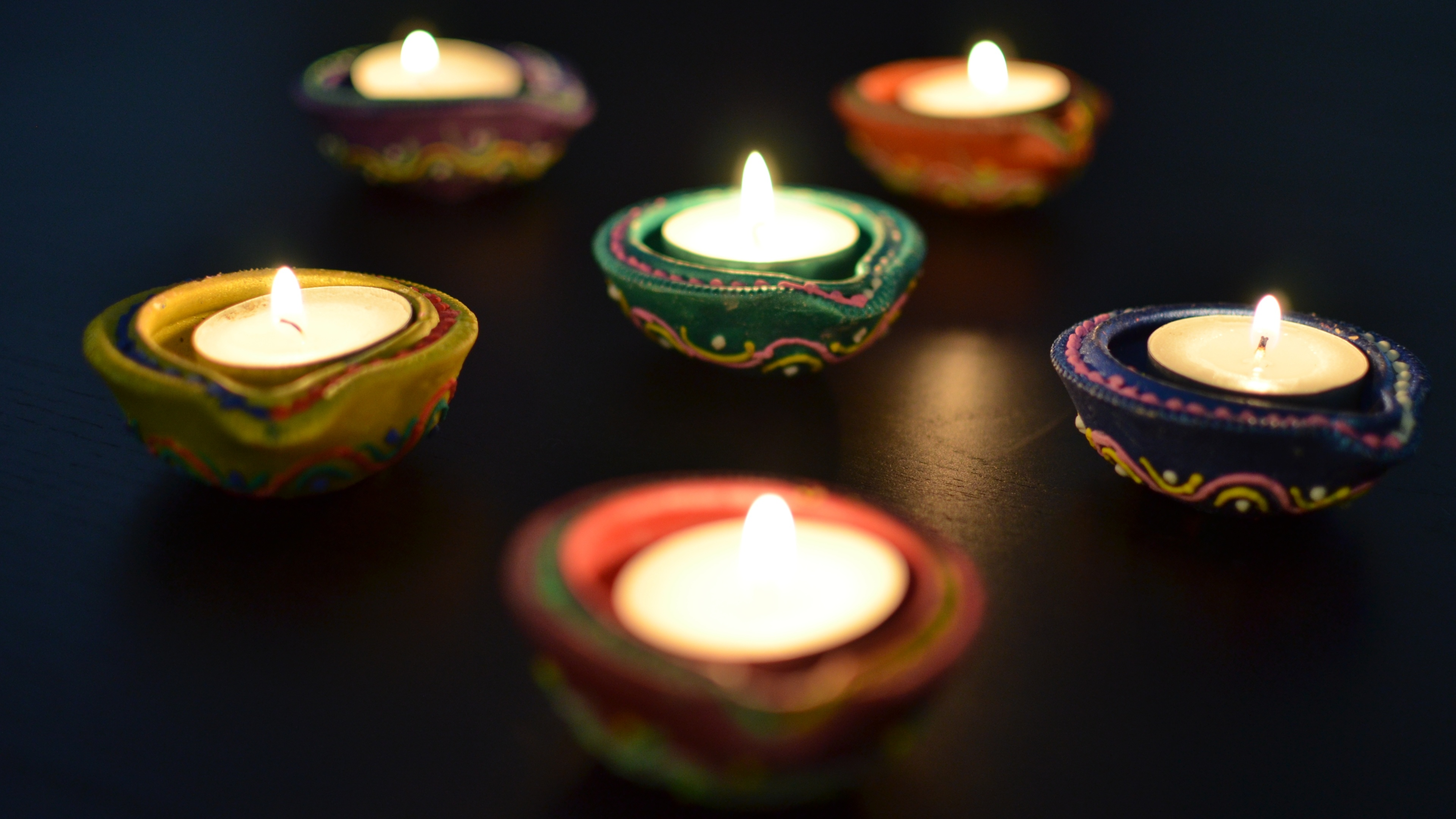 Earthen Lamp Diwali Diwali Clay Lamps Wallpapers 3840x2160 1333891