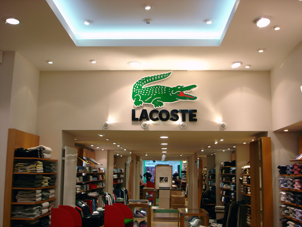 Eclairage De Magasin Magasin Lacoste Bhp Eclairage