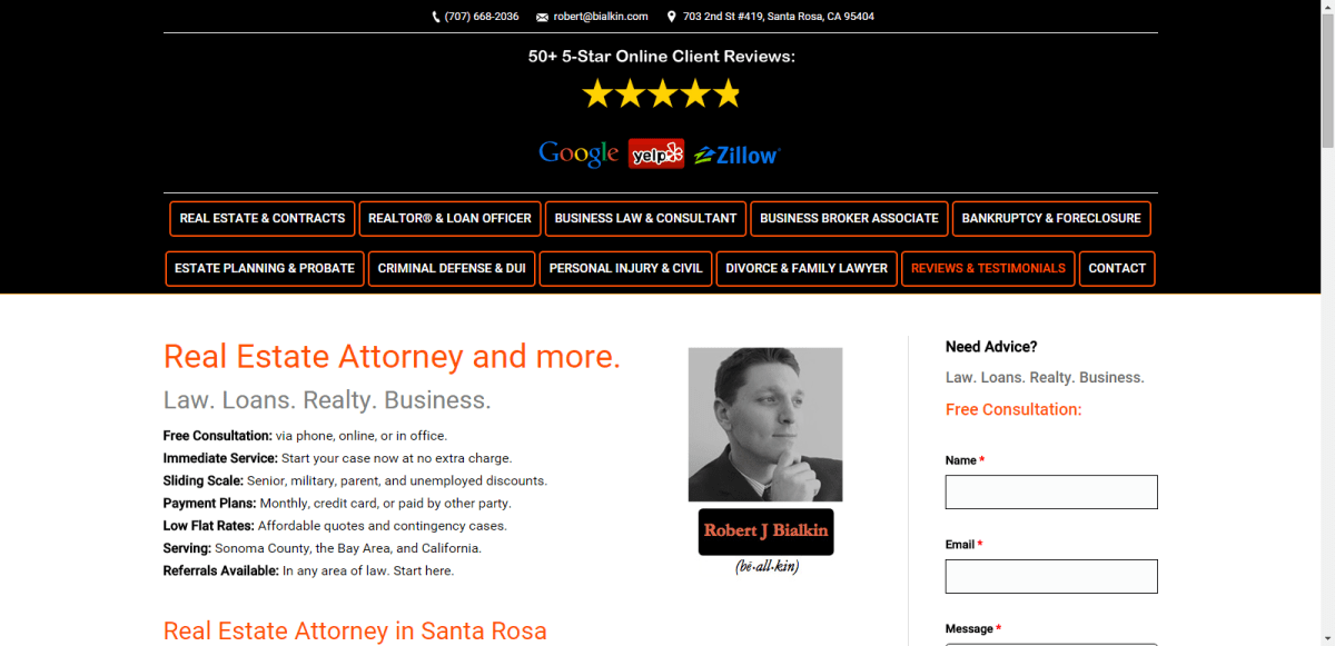 Santa Rosa Lawyer, Attorney, REALTOR®, Real Estate Agent