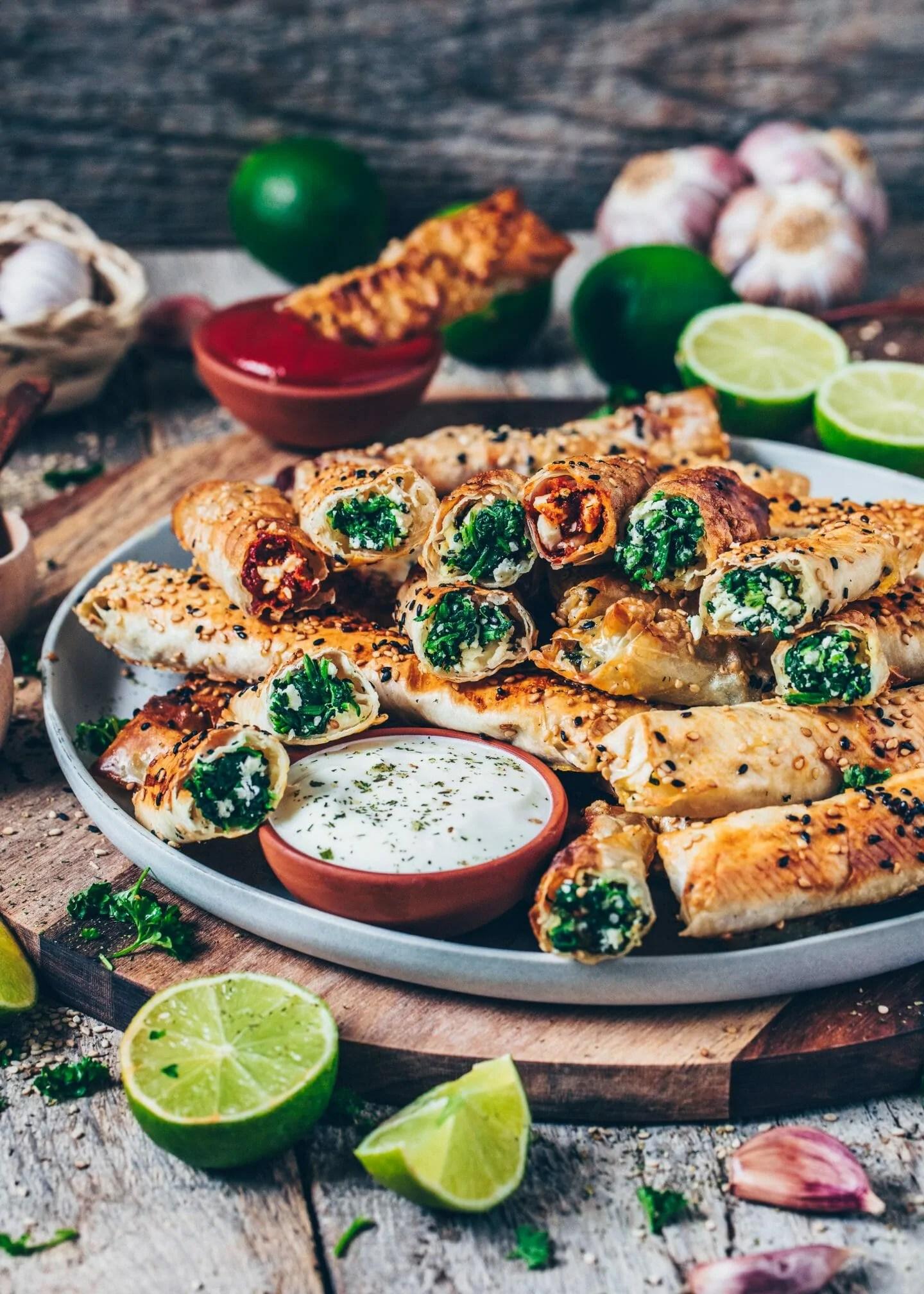 Türkische Küche Rezepte Vegetarisch | Börek Rollen Mit Feta Und Spinat