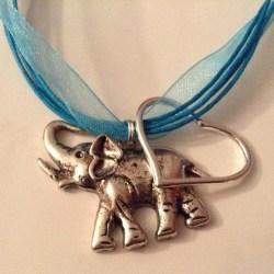 Beautiful Handmade Elephant and Heart Charm Necklaces