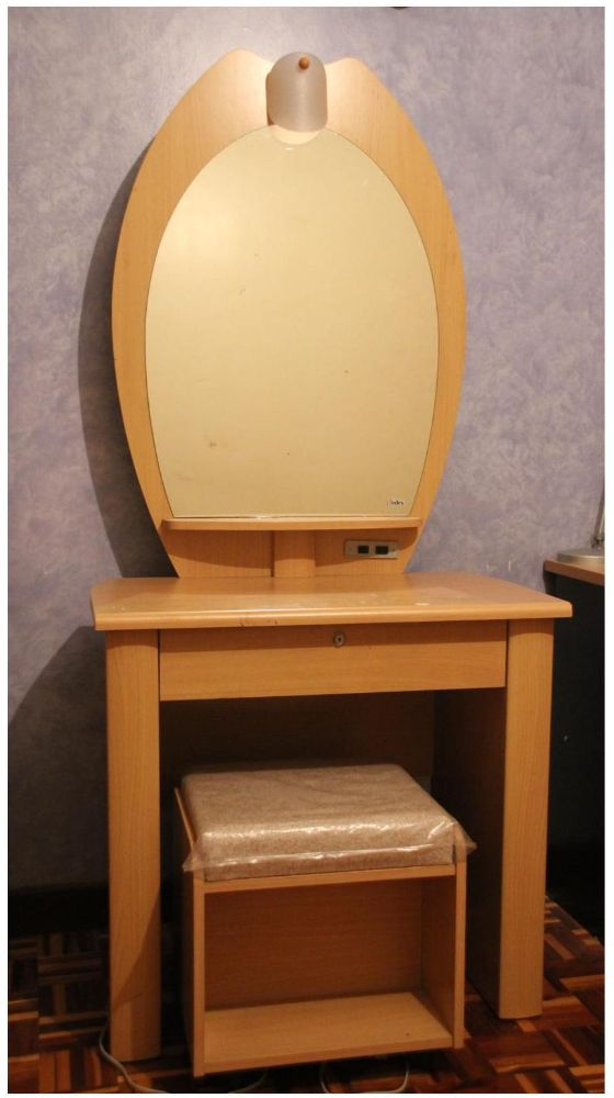 Dressing Table With Lamp And Chair
