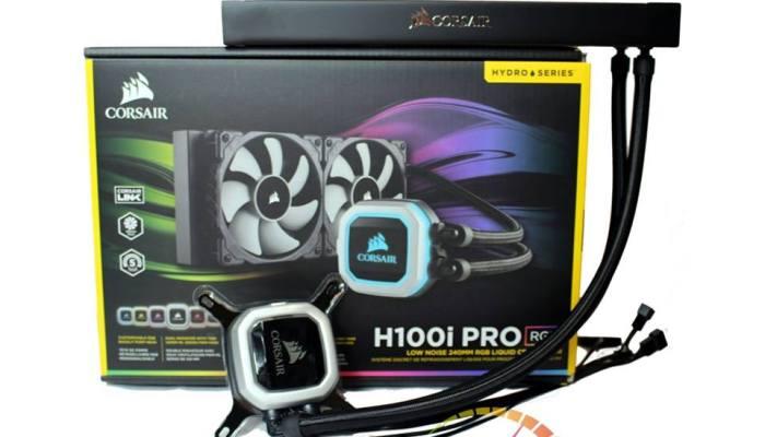 Corsair Hydro Series H100i pro rgb Liquid CPU Cooler with Dual SP120L PWM fans@ 18950.00