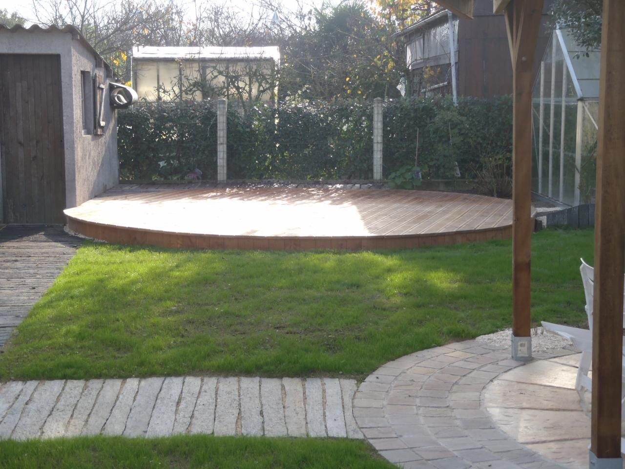 Terrasse Jardin Ronde | Table Ronde De Jardin Vega Grosfillex