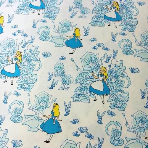 Medium Of Alice In Wonderland Fabric