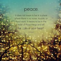 Peace is Our Default Setting.