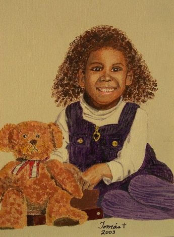Original acrylic. A portrait of Amanda, our granddaughter.