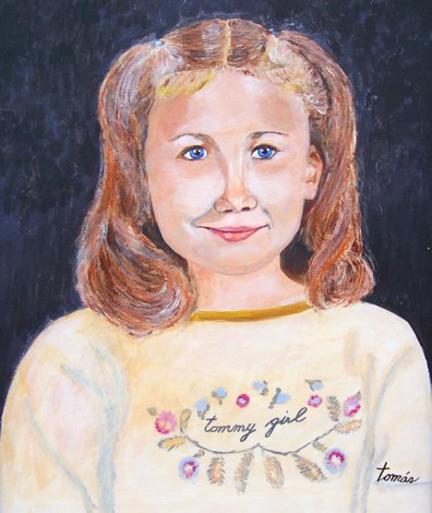 A portrait of our granddaughter Angelica.