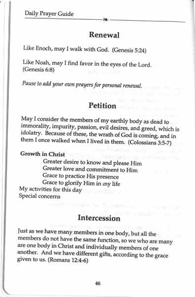 Handbook to Prayer Bibleorg