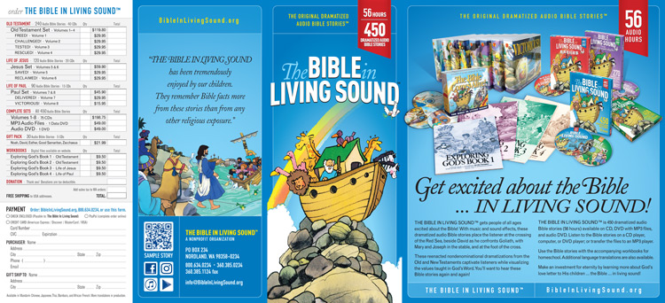 Printable Brochure  The Bible In Living Sound - free printable brochure
