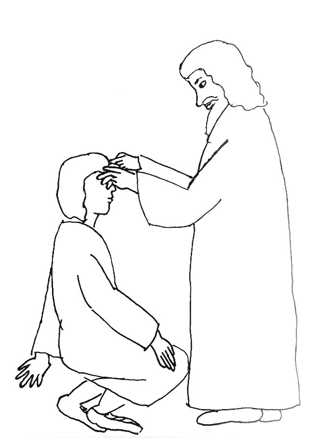 Jesus Heals Blind Man Coloring Page