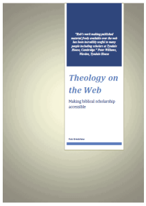 Theology on thr Web News