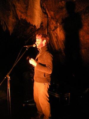 Caoimhín Ó Raghallaigh in the Mitchelstown Cave