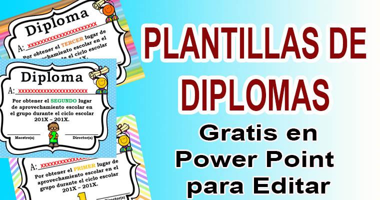 Plantillas de Diplomas en Power Point para Editar \u2013 Biblioteca del