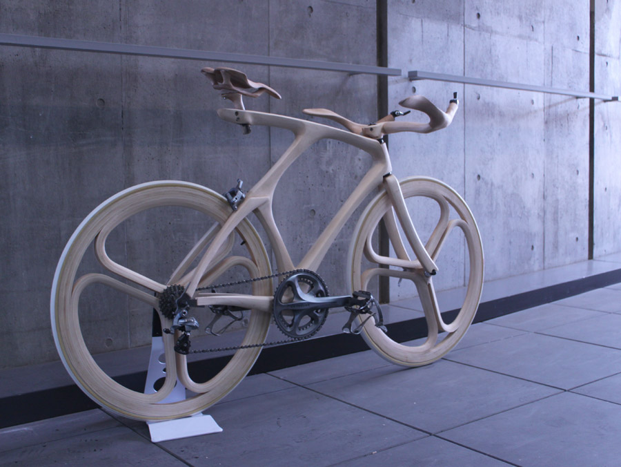 Wood Bike by Yojiro Oshima :: via Bicycle Design