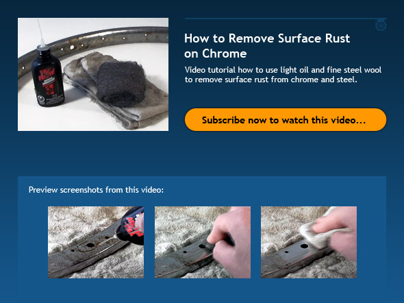 How To Remove Surface Rust On Chrome - Bicycle Tutor Video