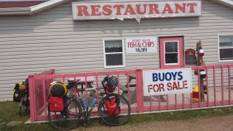 Fish & Chips before entering P.E.I.