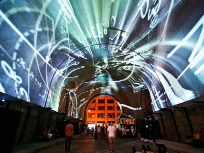 Projection on the Bridge – Immersive Surfaces – As Above, So Below