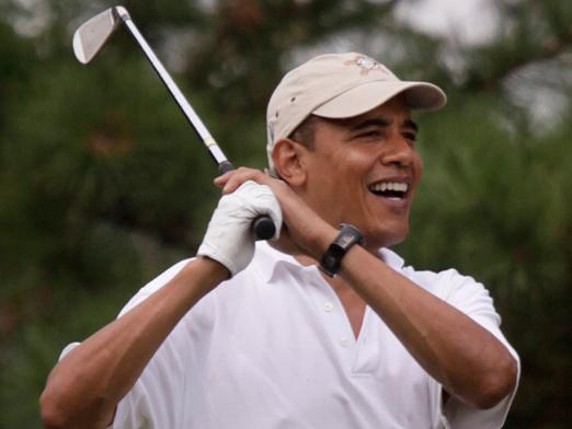 Obama Went Golfing 30 Minutes After ISIS Threatened to Kill More Americans