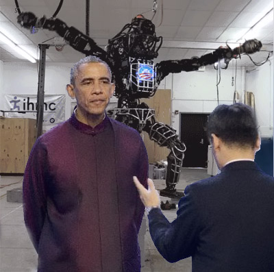 Obama Unveils Dark Robot To Destroy Jesus and Start New Age of Liberal Darkness