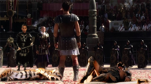 christians being forced to fight to death in coliseum