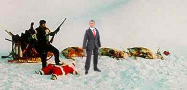 Obama Declares War on Christmas, Uses NORAD To Shoot Down Santa
