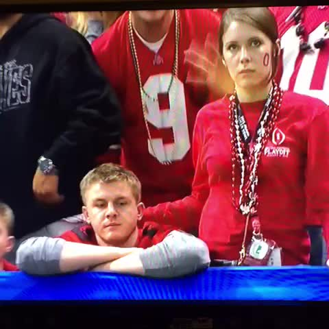 When You're At the Game With Your Side Dude, Then Realize You're On National TV