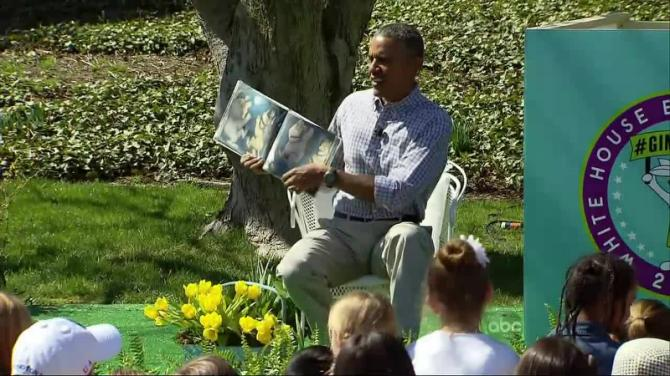 Obama Attacked By Grist Plague of Bees While Reading 'Where The Wild Things Are' To School Children