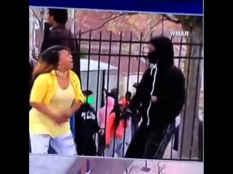 Mom Catches Son Rioting In Baltimore, Lays Smack Down