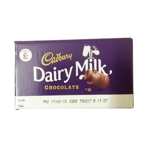 Dairy Milk Chocolate 460.8 gm (Pack Of 72): Buy online at best price