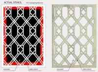 Decor Pattern Stencil: Window Glass Trellis 02 #067 ...