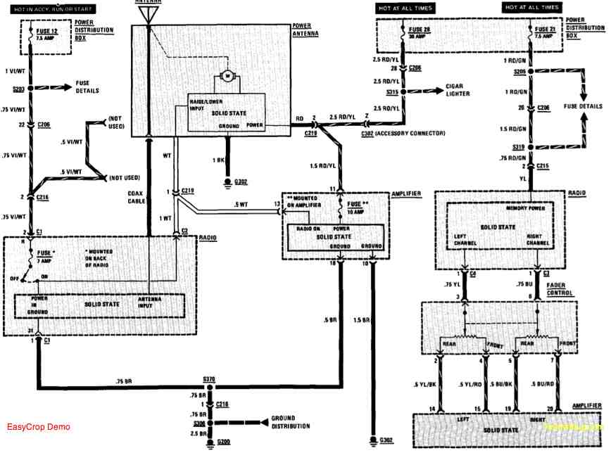 bmw 635csi radio wiring diagram