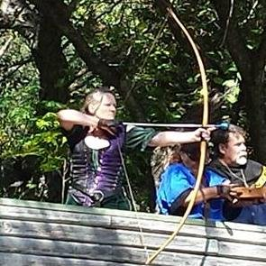 Paige with long bow
