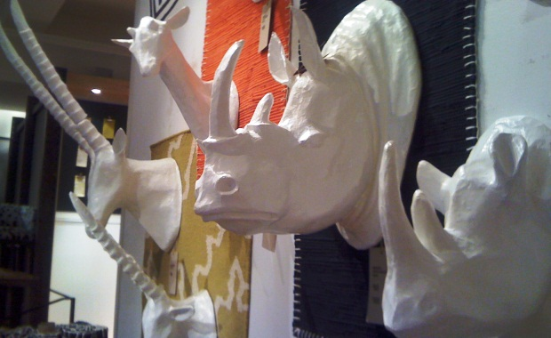 Papier-Mache Animal Sculptures, West Elm