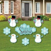 Let It Snow - Snowman - Yard Sign & Outdoor Lawn ...