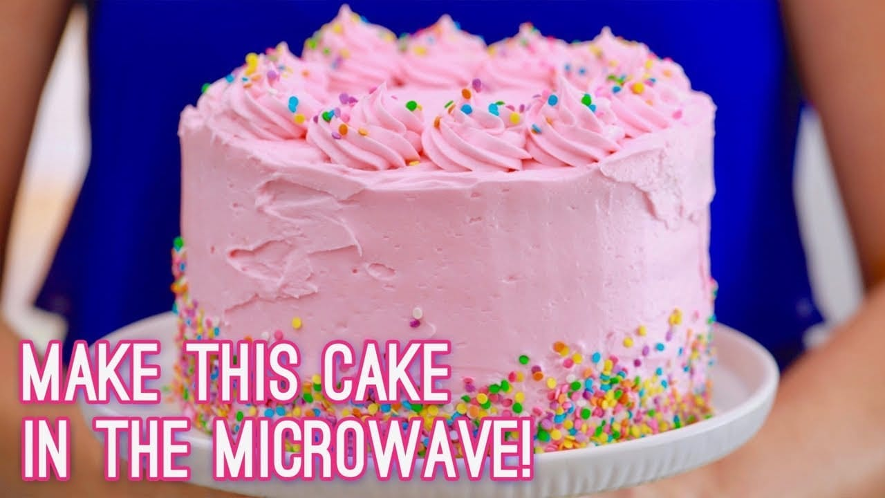Baking Cakes 3 Layer Cake Made In The Microwave