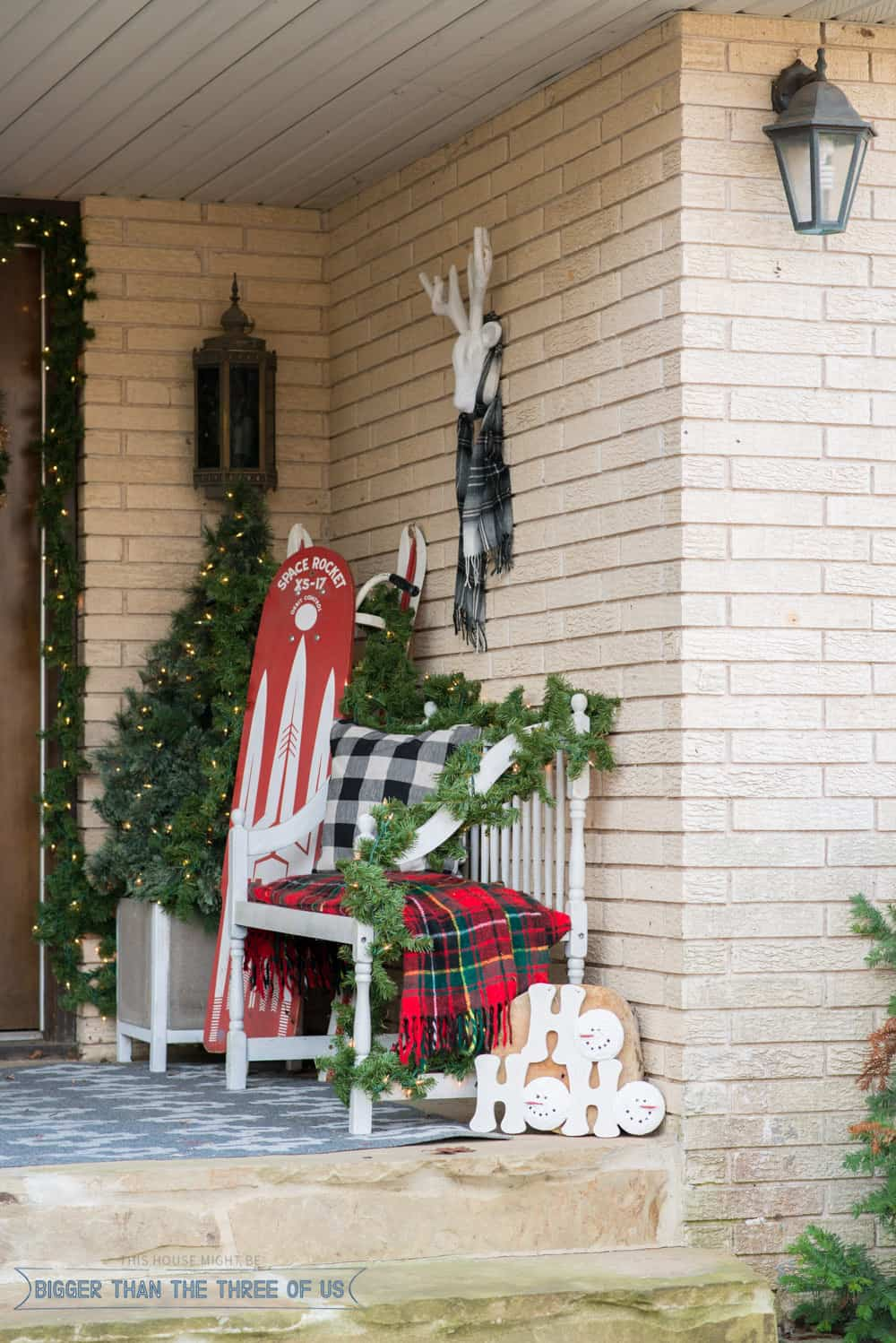 How To Decorate Your Front Porch Decorating Your Front Porch For Christmas - Bigger Than