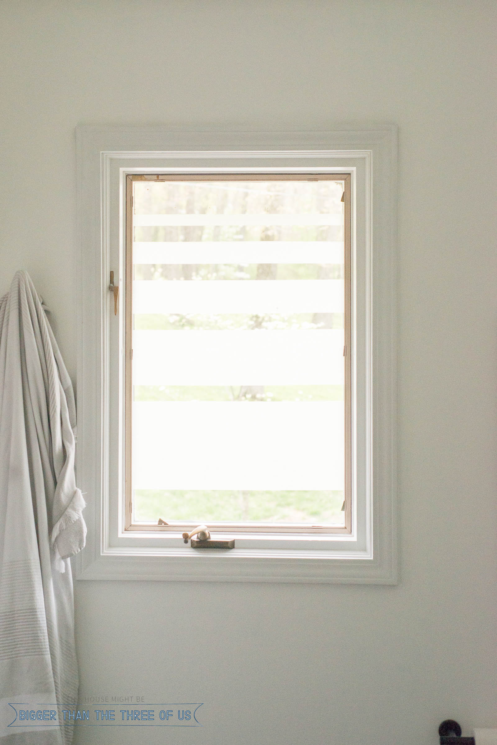 Bathroom Window Covering Bathroom Window Privacy Diy Bigger Than The Three Of Us