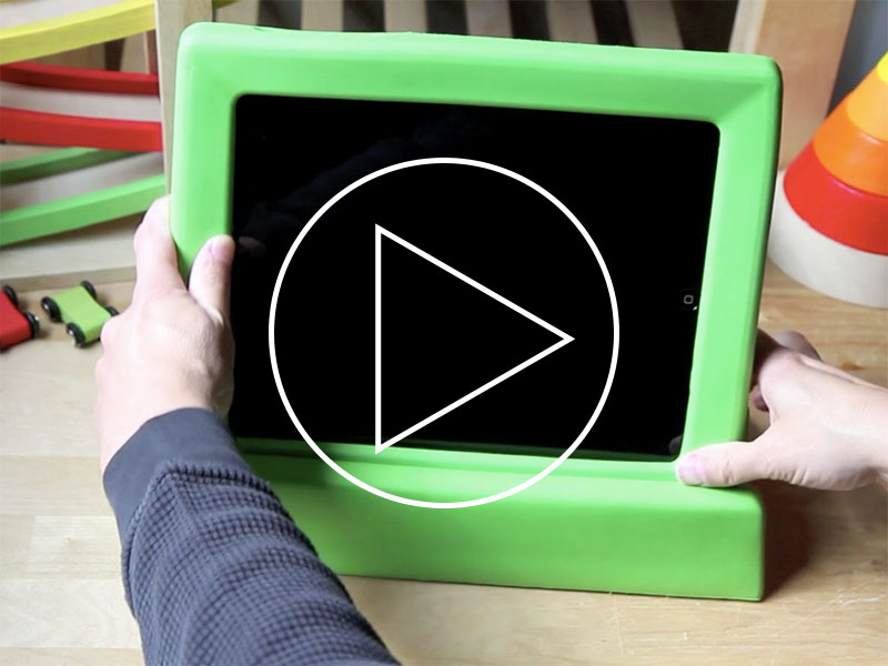 Big Grips® Frame for iPad \u2014 Big, squishy, and very protective - green photo frame