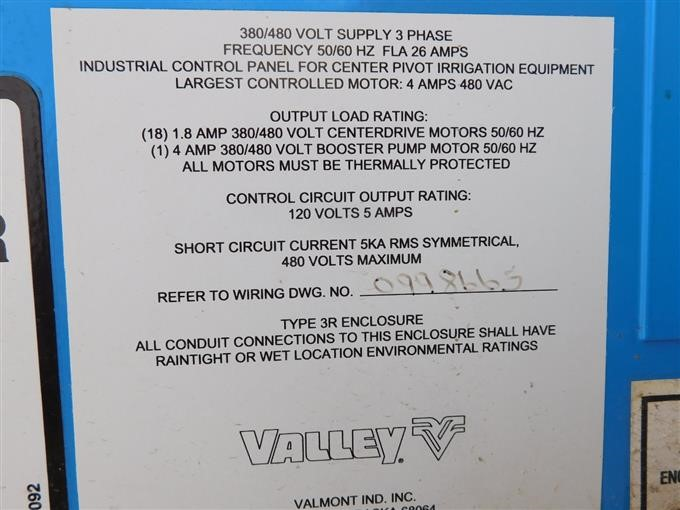 Valmont/Valley Center Pivot Control Panel BigIron Auctions