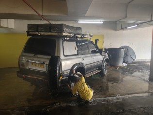 Boris gets a clean in anticipation for his journey (Port Klang, Malaysia)